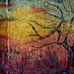 Abstract, Sunset, Metallic, Impressionist, Tree, Sun